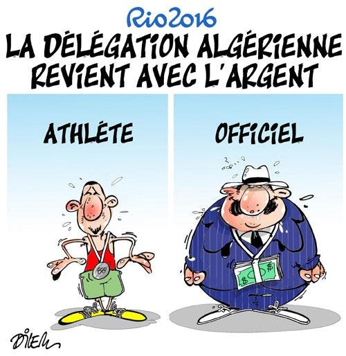 Rio 2016: La délégation algérienne revient aver l'argent