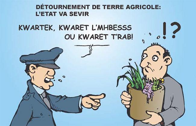 Détournement de terre agricole: L'état va sévir
