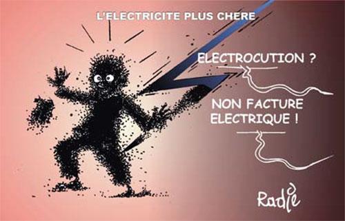 L'electricité plus chere