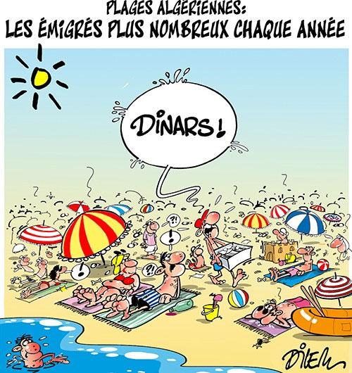 Plages algériennes: Les émigrés plus nombreux chaque annéee
