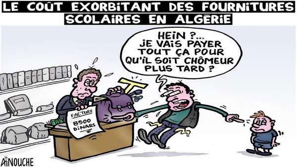 Le coût exorbitant des fournitures scolaires en Algérie