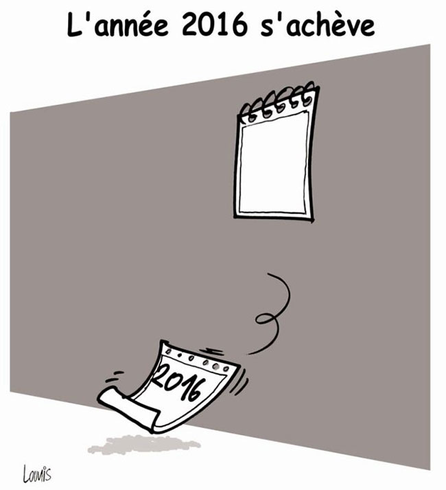 L'année 2016 s'achève