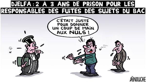 Djelfa: 2 à 3 ans de prison pour les responsables des fuites des sujets du bac