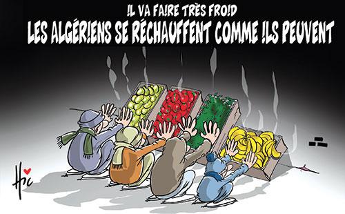 Il va faire très froid: Les Algériens se réchauffent comme il peuvent