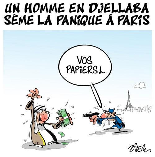 Un homme en djellaba sème la panique à Paris