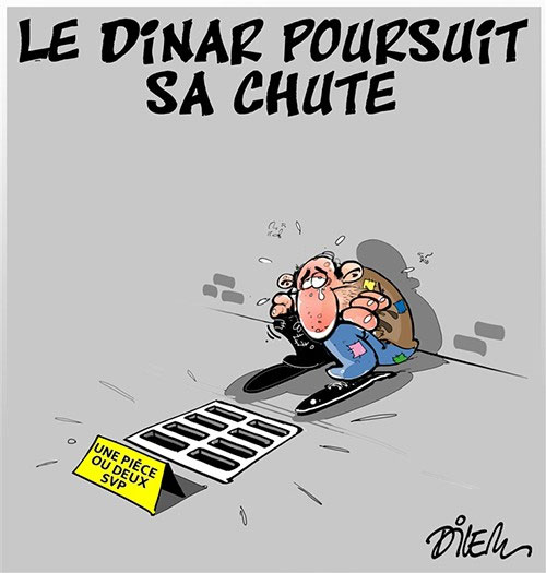 Le dinar poursuit sa chute