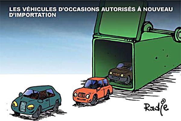 Les véhicules d'occasions autorisés à nouveau d'importation