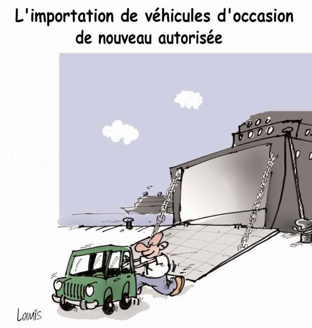 L'importation de véhicules d'occasion de nouveau autorisée