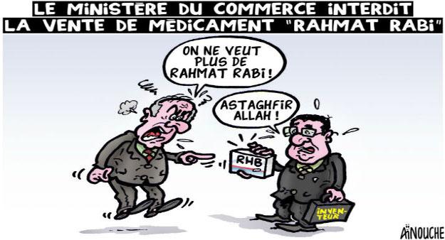 """Le ministre du commerce interdit la vente du médicament """"rahmat rabi"""""""