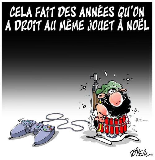 Le dessin du jour (humour en images) - Page 10 Jouet-noel