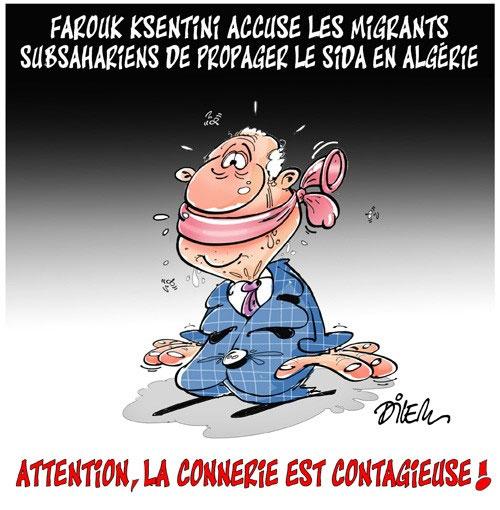 Farouk Ksentini accuse les migrants subsahariens de propager le sida en Algérie