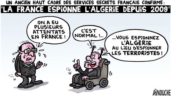 Un ancien haut cadre des services secrets français confirme: La France espionne l'Algérie depuis 2009