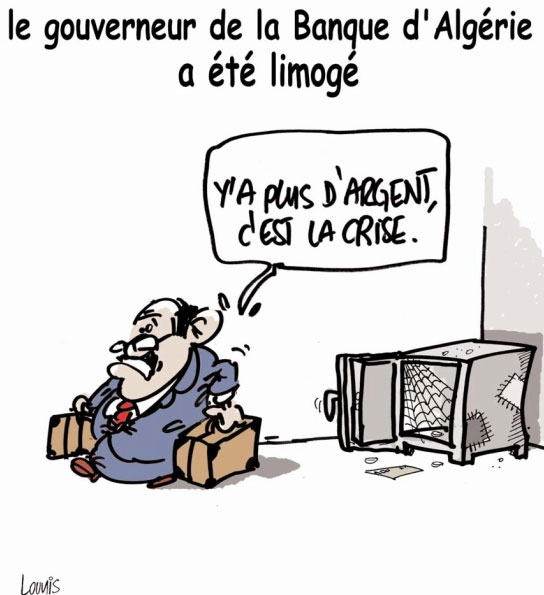Le gouverneur de la banque d'Algérie a été limogé