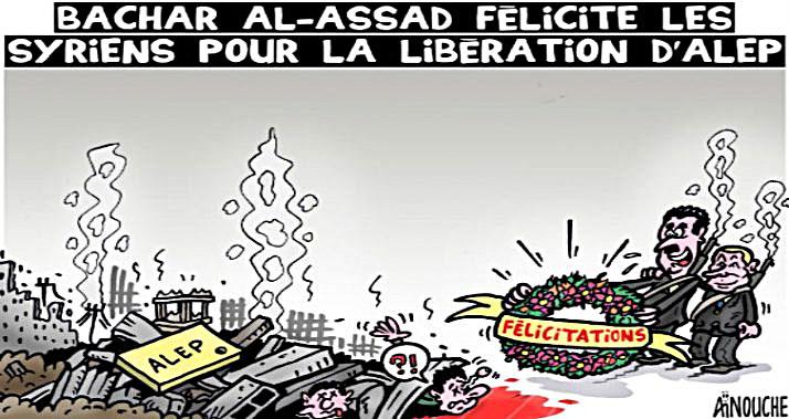 Bachar Al-Assad félicite les syriens pour la libération d'Alep