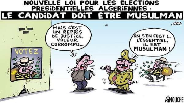 Nouvelle loi pour les élections présidentielles algériennes: Le candidat doit être musulman