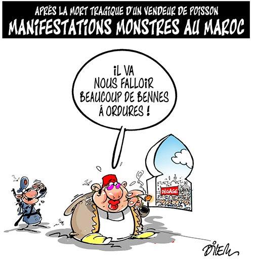 Après la mort tragique d'un vendeur de poisson: Manifestations monstres au Maroc