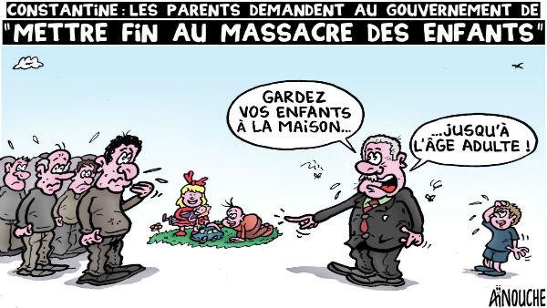 Constantine: Les parents demandent au gouvernement de mettre fin au massacre des enfants