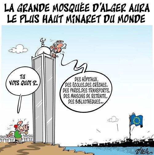 La grande mosquée d'Alger aura le plus haut minaret du monde