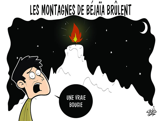 Les montagnes de Béjaïa brûlent