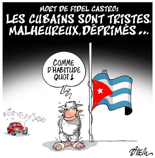 Mort de Fidel Castro: Les Cubains sont tristes