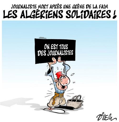 Journaliste mort après une grève de la faim: Les Algériens solidaires