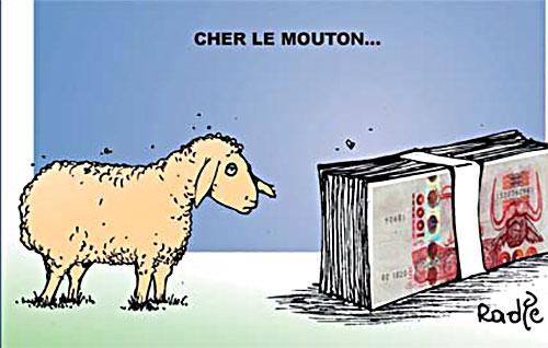 Cher le mouton