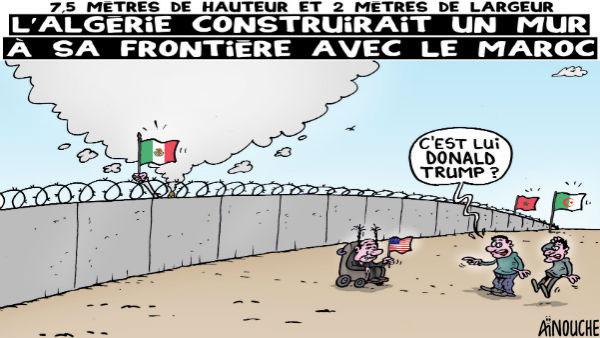 7,5 mètres de hauteur et 2 mètres de largeur: L'Algérie construirait un mur à sa frontière avec le Maroc