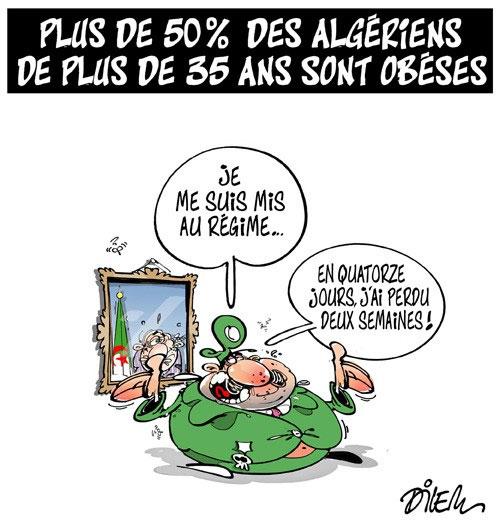 Plus de 50% des algériens de plus de 35 ans sont obèses