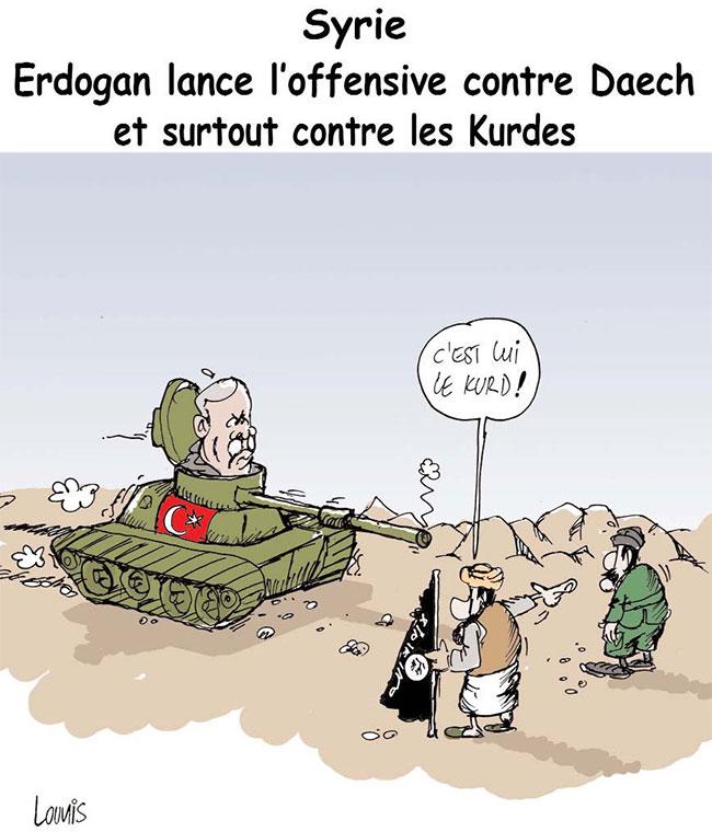 Syrie: Erdogan lance l'offensive contre daech et surtout contre les kurdes