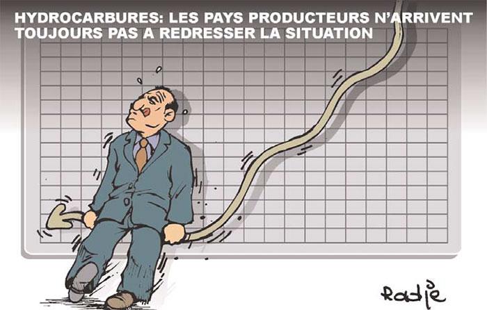 Hydrocarbures: Les pays producteurs n'arrivent toujours pas à redresser la situation