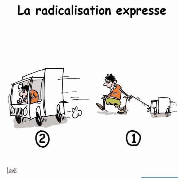 La radicalisation express