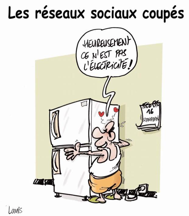 Les réseaux sociaux coupés