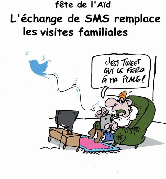 Fête de l'aïd: L'échange de SMS remplace les visites familiales