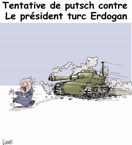 Tentative de putsch contre le président turc Erdogan