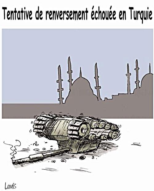 Tentative de renversement échouée en Turquie