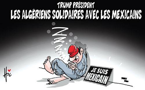 Trump président: Les Algériens solidaires avec les mexicains