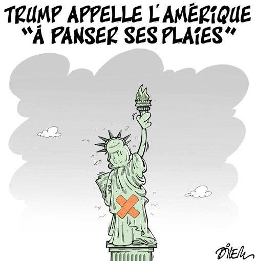 """Trump appelle l'Amérique """"à panser ses plaies"""""""