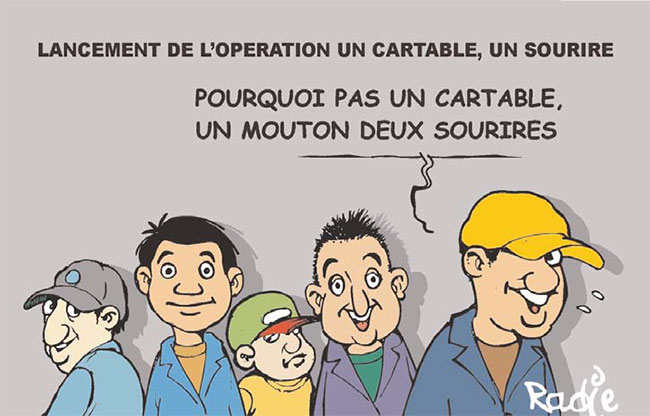 Lancement de l'operation un cartable