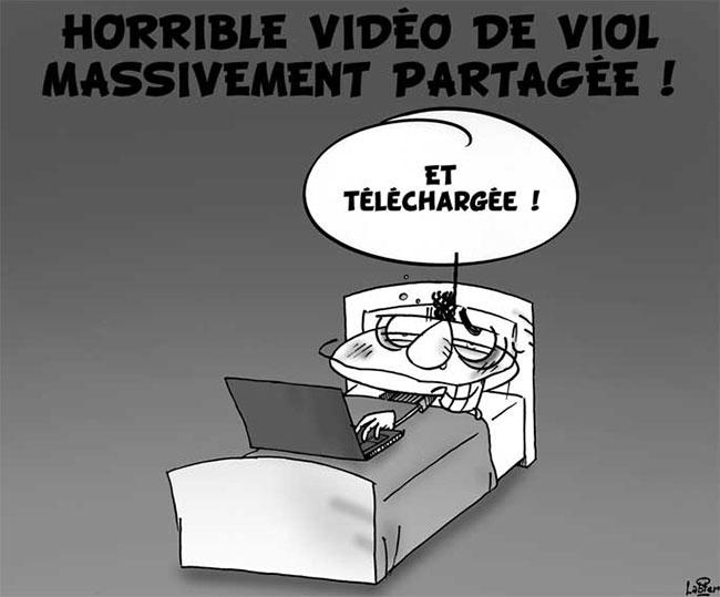 Horrible vidéo de viol massivement partagée