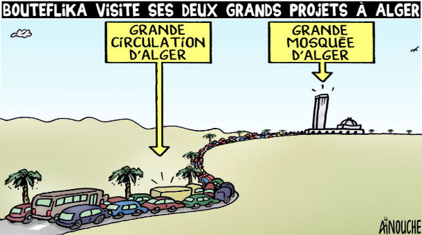 Bouteflika Visite ses deux grands projets à Alger