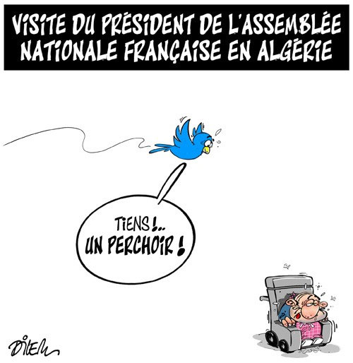 Visite du président de l'assemblée nationale française en Algérie