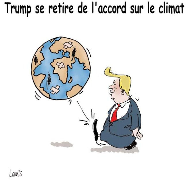 Trump se retire de l'accord sur le climat