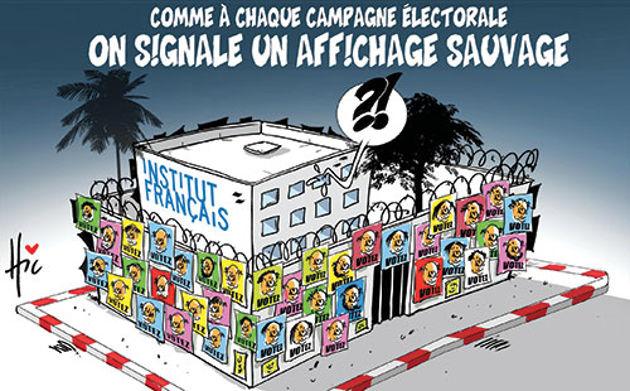 Comme à chaque campagne électorale: On signale un affichage sauvage