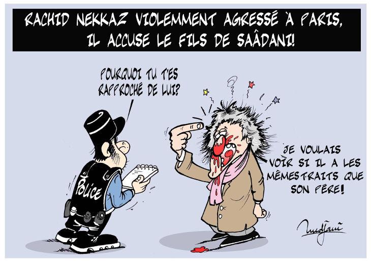 Rachid Nekkaz violemment agressé à Paris: Il accuse le fils de Saâdani