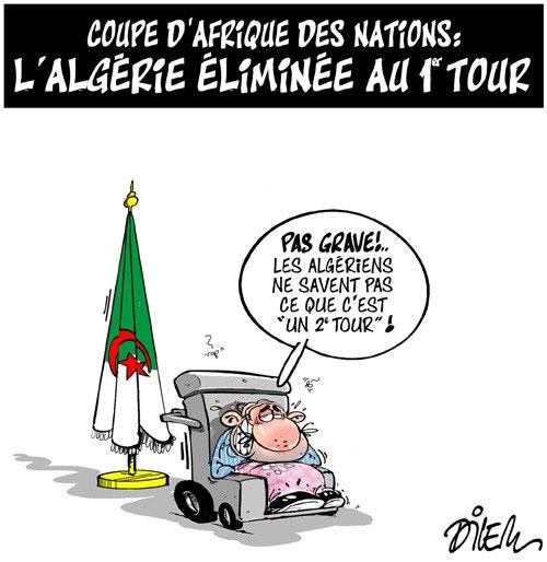 Coupe d'Afrique des nations: L'Algérie éliminée au 1er tour