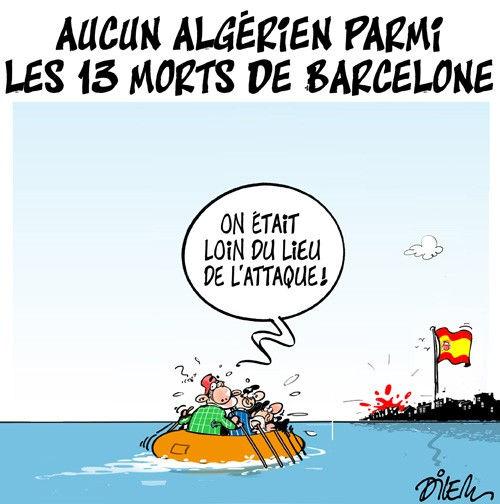 Aucun algérien parmi les 13 morts de Barcelone
