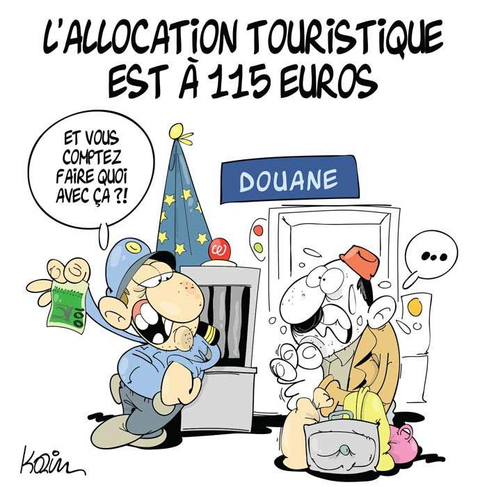 L'allocation touristique est à 115 euros