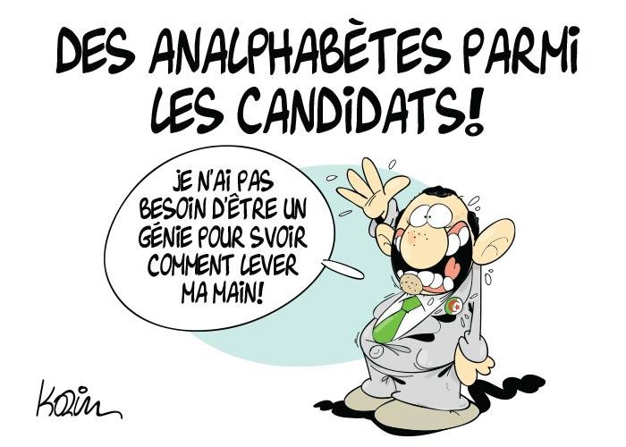 Des analphabètes parmi les candidats