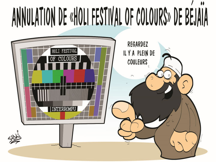 "Annulation de ""holi festival of colours"" de Béjaïa"