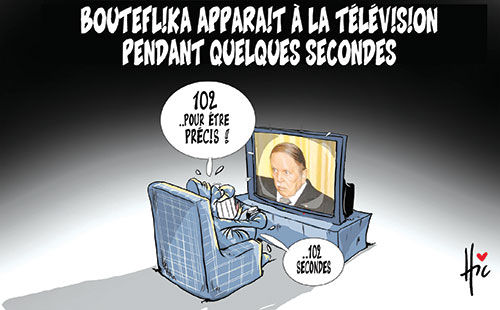Bouteflika apparait à la télévision pendant quelques secondes